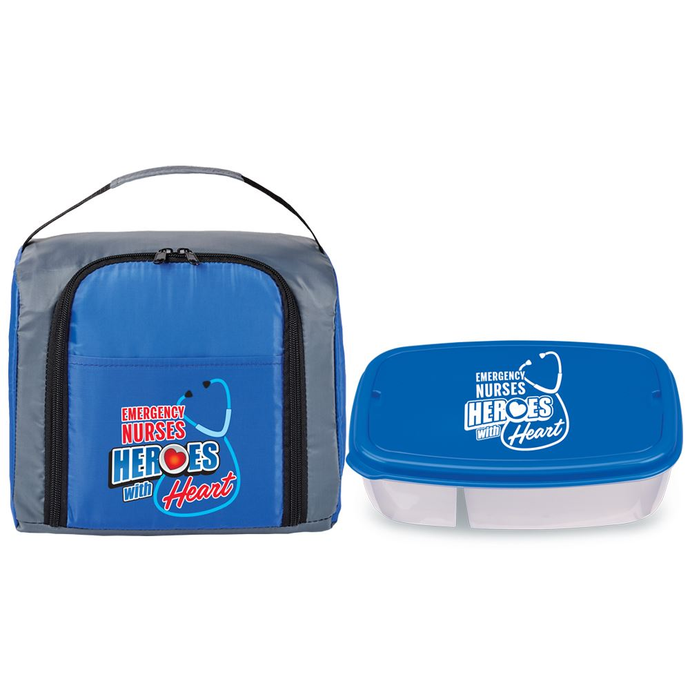 Emergency Nurses: Heroes With Heart Lunch Bag And Food Container Combo