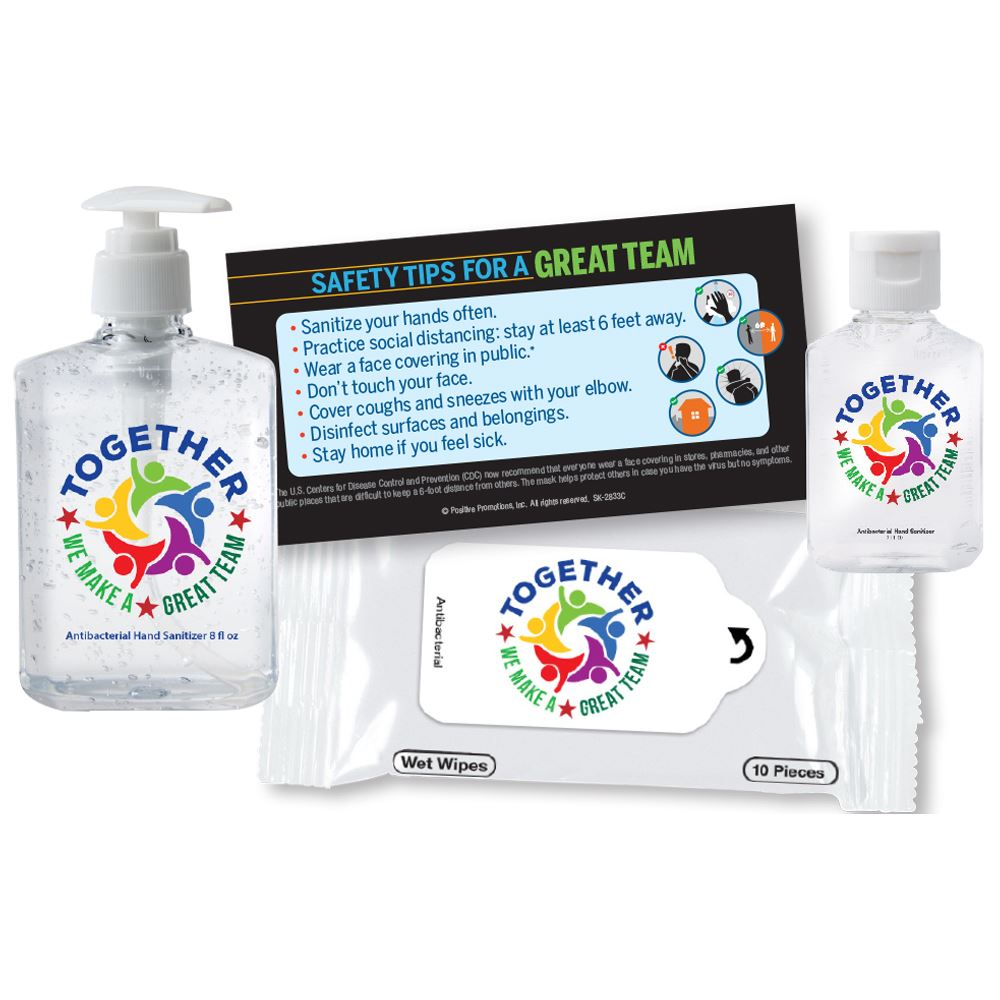 Together We Make A Great Team On-The-Go & At Work Self-Protection Kit