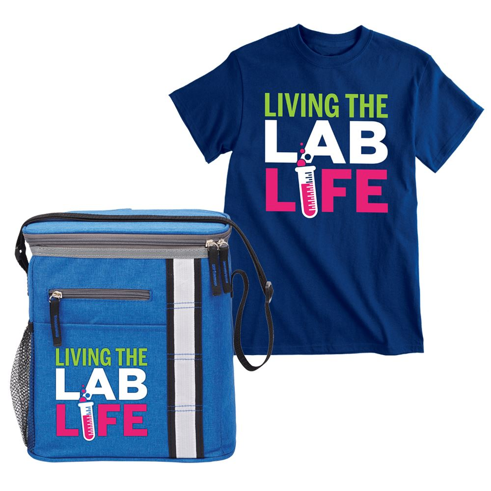 Living The Lab Life Lunch/Cooler Bag & T-Shirt Combo