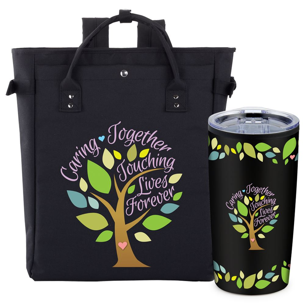 Caring Together, Touching Lives Forever Freeport Backpack/Tote & Sierra Tumbler Gift Set