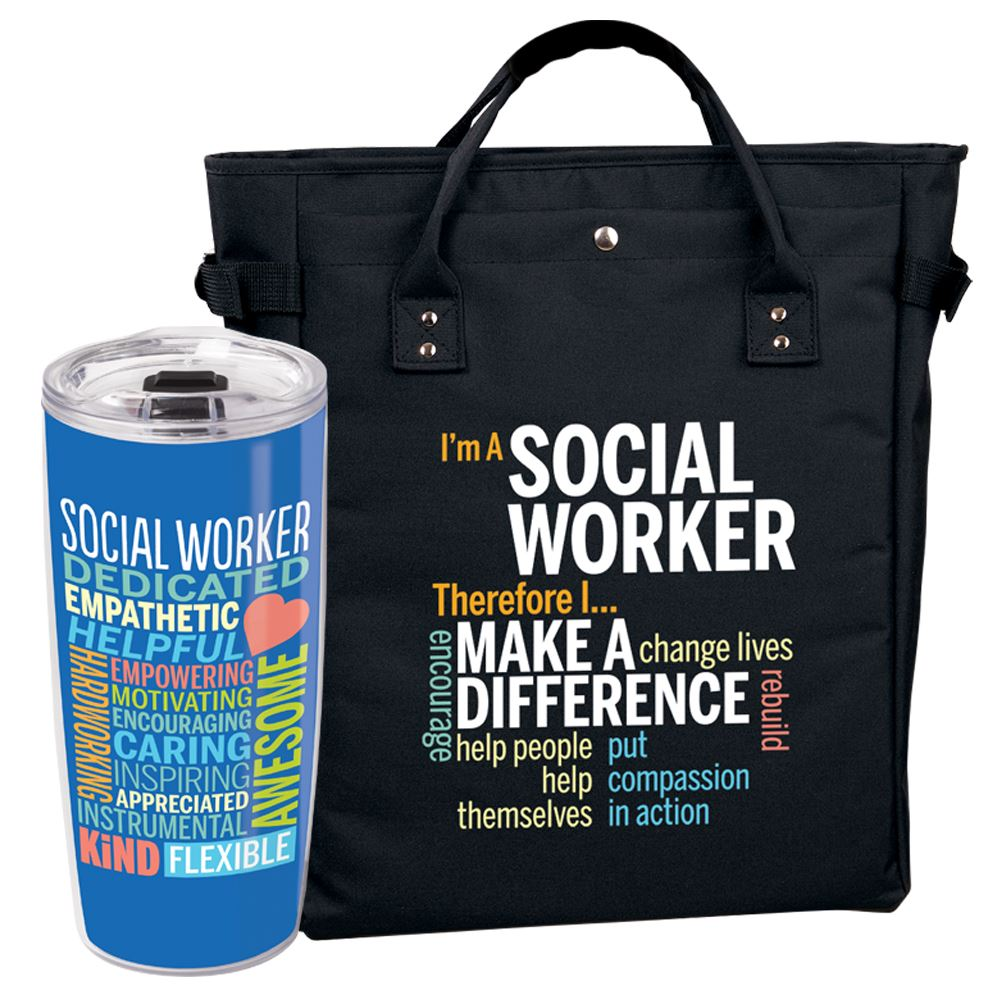 Social Worker Tumbler & Tote Bag/Backpack Combo