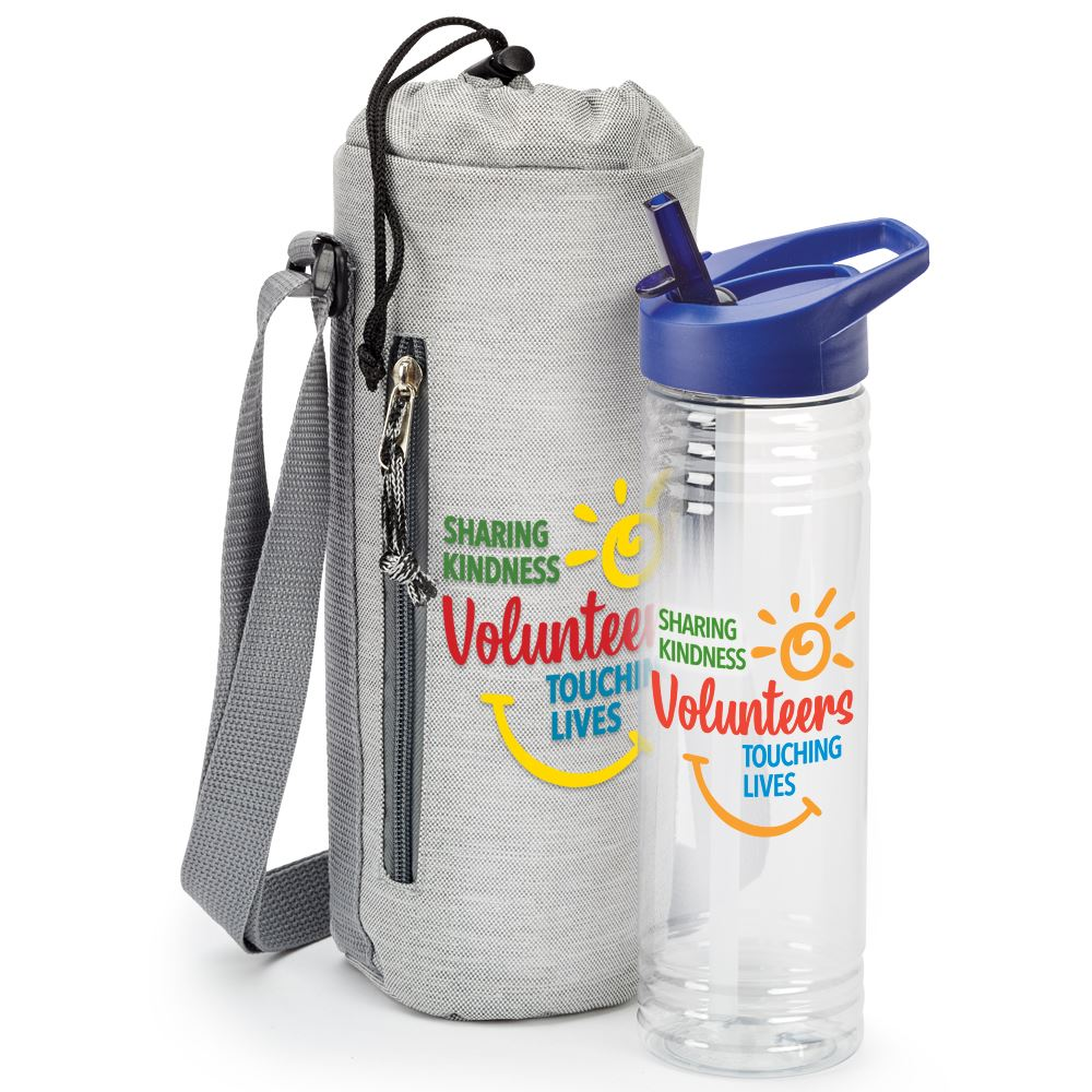 Volunteers: Sharing Kindness, Touching Lives Solara Water Bottle And Bottle Sling