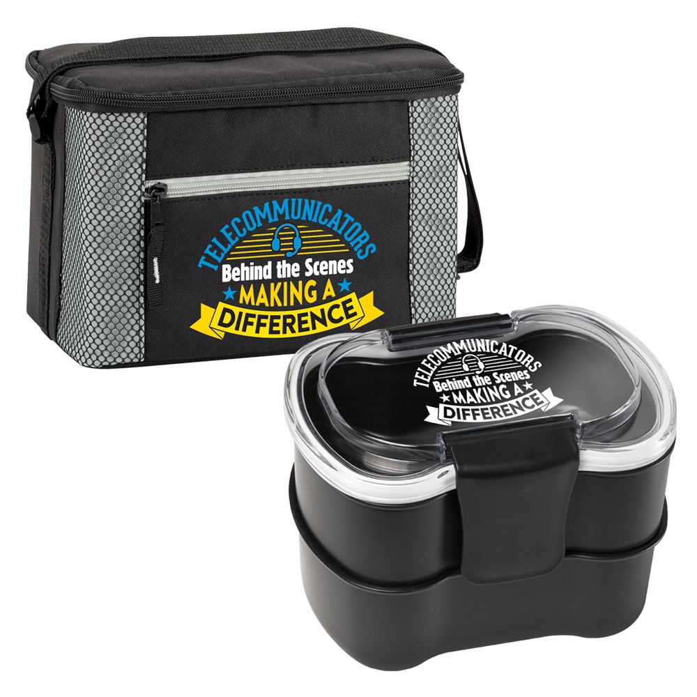 Telecommunicators: Behind the Scenes, Making A Difference Atlantic Lunch/Cooler Bag & 2-Tier Food Container Gift Set