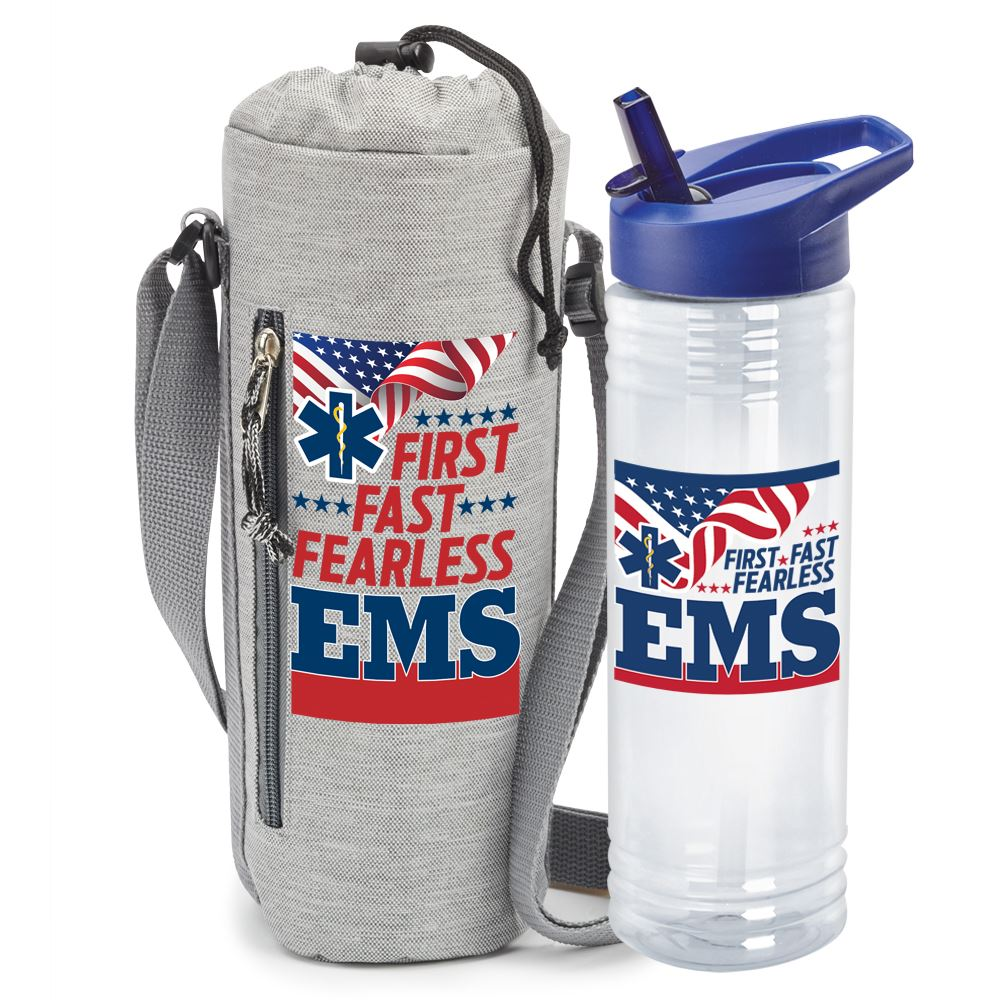 EMS: First. Fast. Fearless Insulated Bottle Sling & Solra Combo