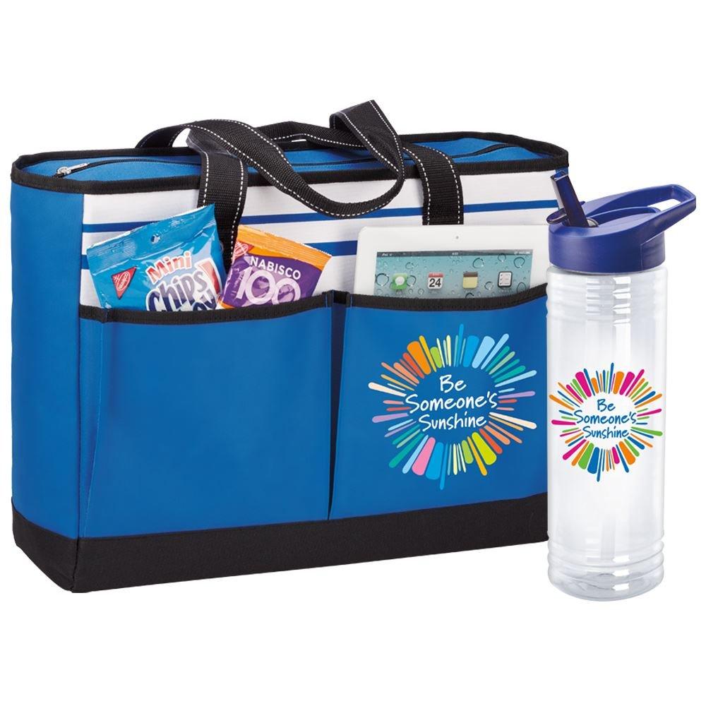 Be Someone's Sunshine Traveler 2-Pocket Tote Bag & Solara Water Bottle Gift Set