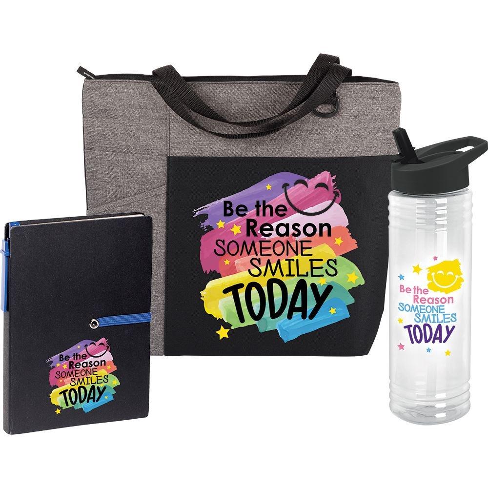 Be The Reason Someone Smiles Today Ashland Tote, Jotter & Solara Water Bottle 24-Oz. Gift Set
