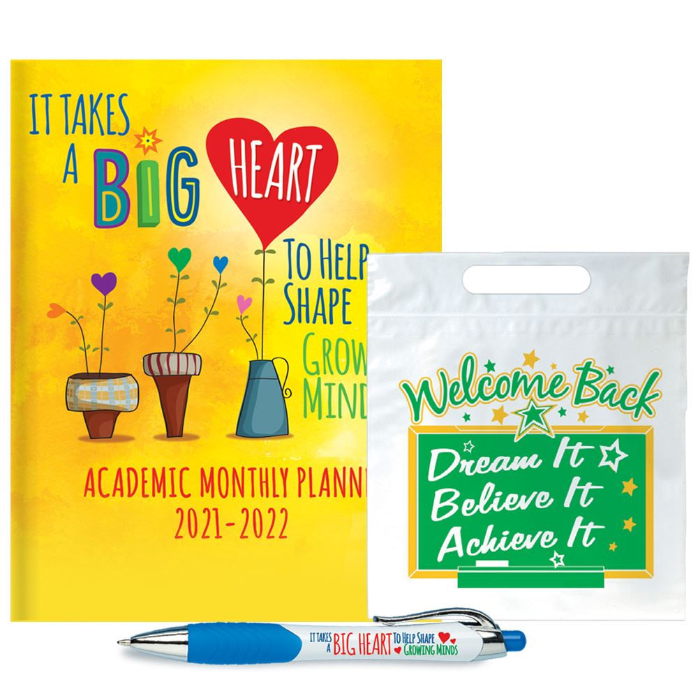 Academic Monthly Desk Planner Supply Kit- 3 Items In 1