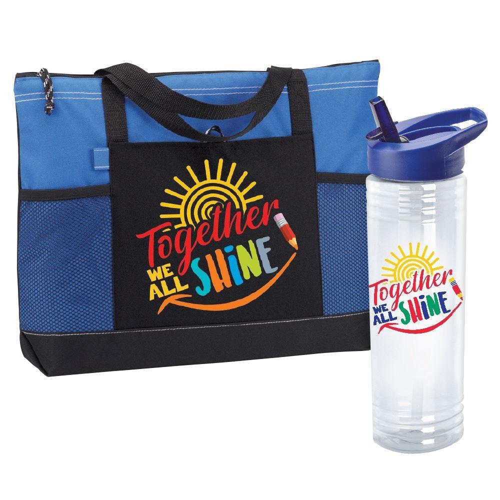 Together We Shine- Solara Water bottle & Moreno Tote Bag Combo