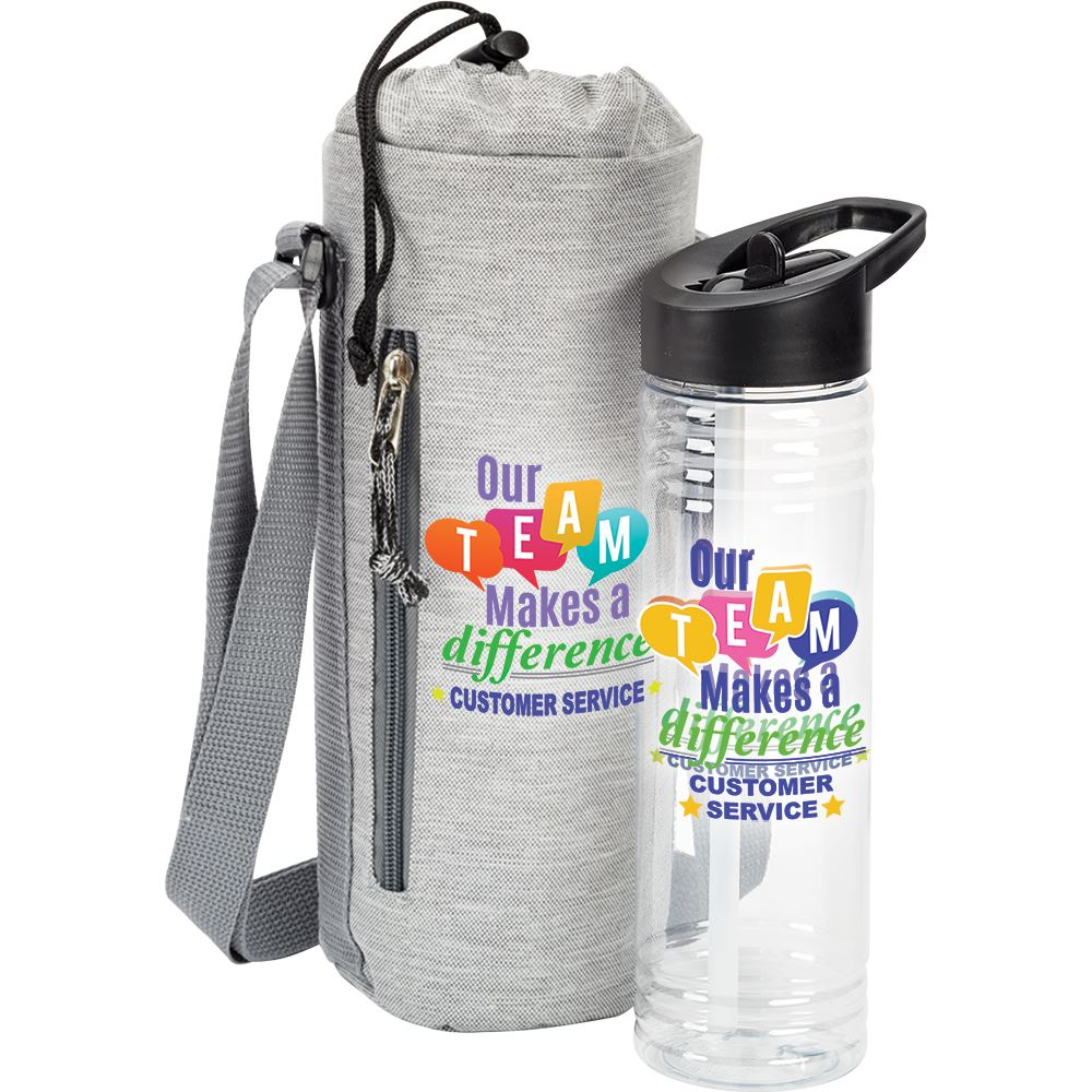 Customer Service: Our Team Makes A Difference Solara Water Bottle & Insulated Bottle Cooler Sling Gift Set