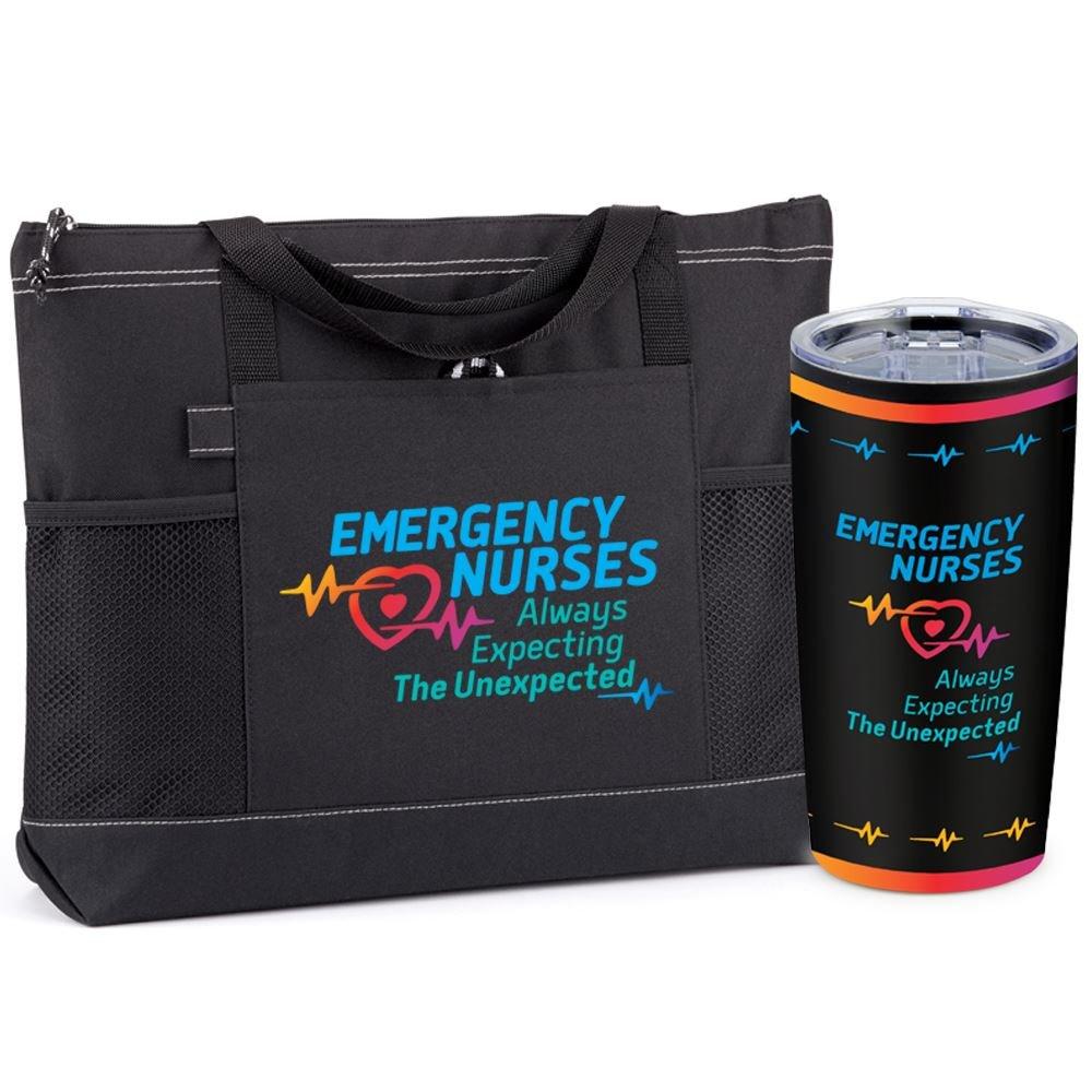 Emergency Nurses: Always Expecting The Unexpected Moreno Tote & Teton Tumbler Gift Set