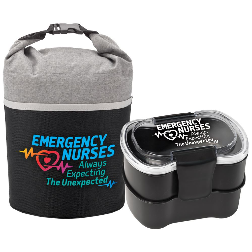 Emergency Nurses: Always Expecting The Unexpected Bellmore Cooler Lunch Bag & 2-Tier Locking Food Containers Gift Set