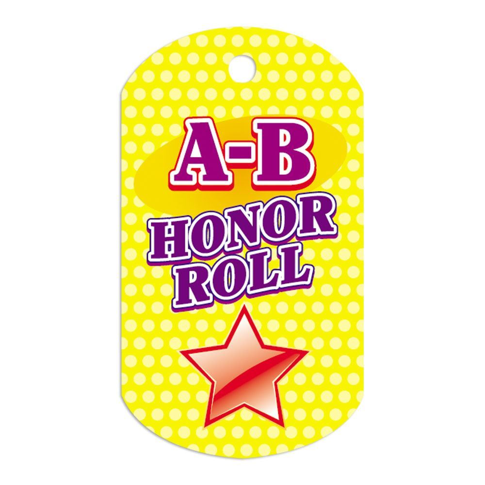 "A-B Honor Roll Award Tags With 4"" Chains - Pack of 25"