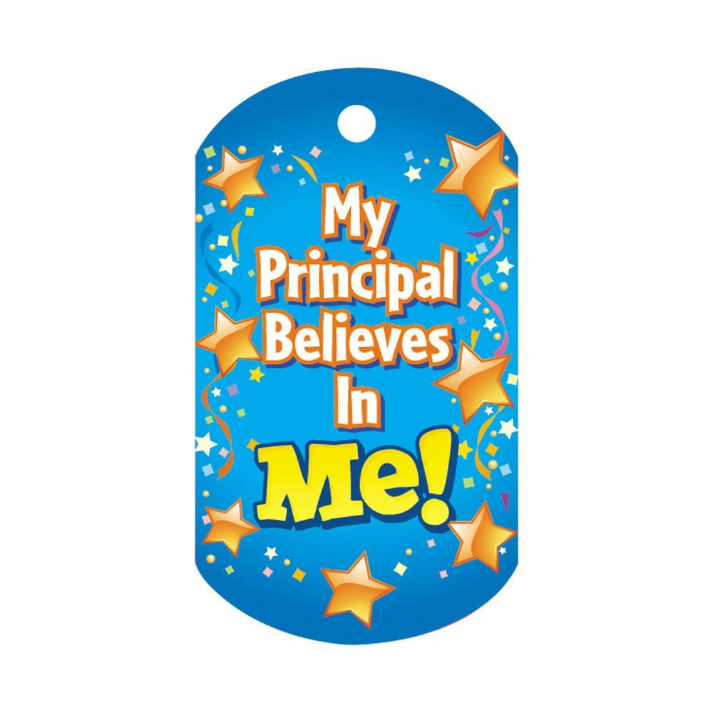 My Principal Believes In Me Award Tag With 4