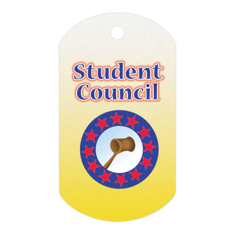Student Council Laminated Award Tag With 24