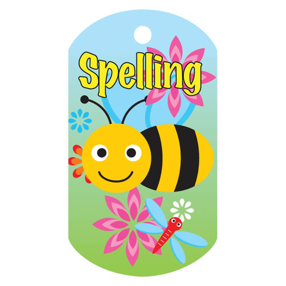 Spelling (Bee) Laminated Award Tag With 4