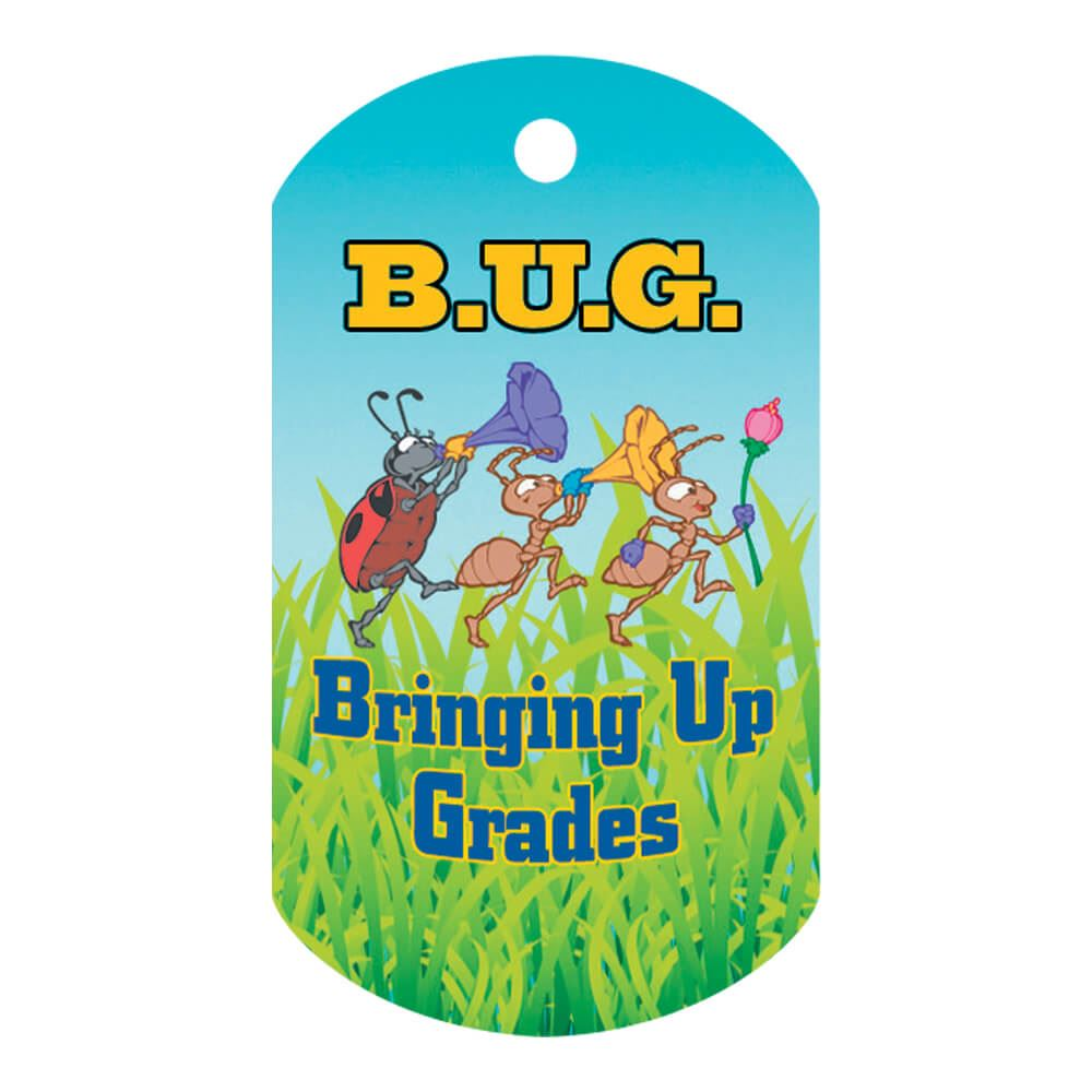 B.U.G-Bringing Up Grades Laminated Award Tag With 4