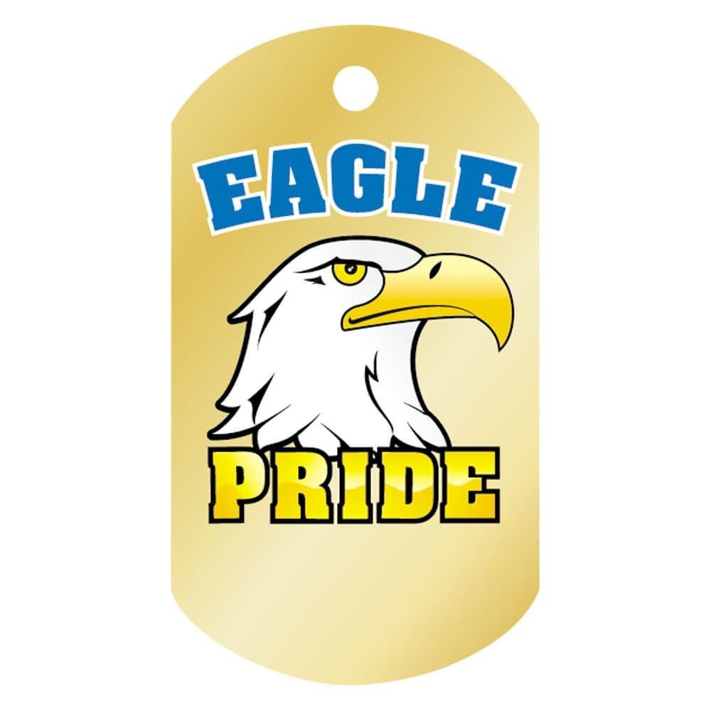 "Eagle Pride Laminated Award Tag With 24"" Chain"