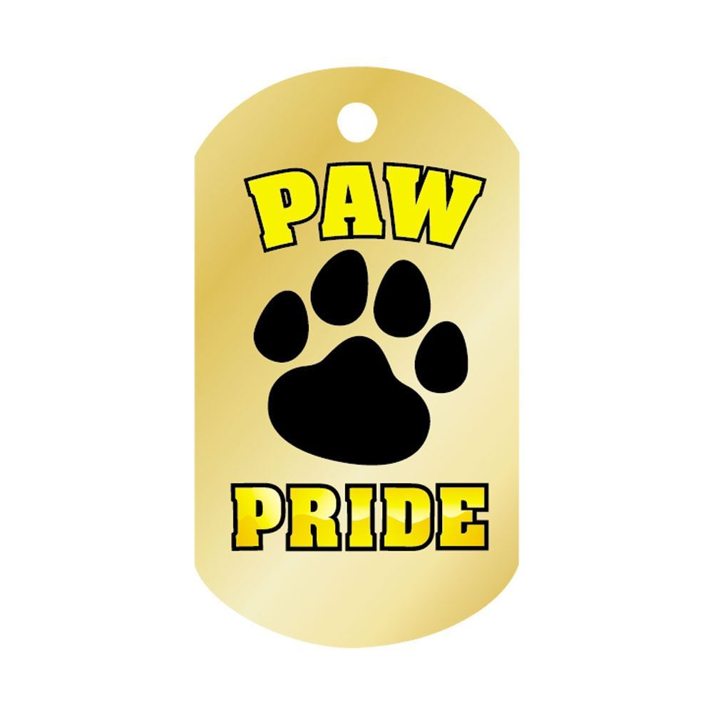 """Paw Pride Laminated Award Tags With 4"""" Chains - Pack of 25"""