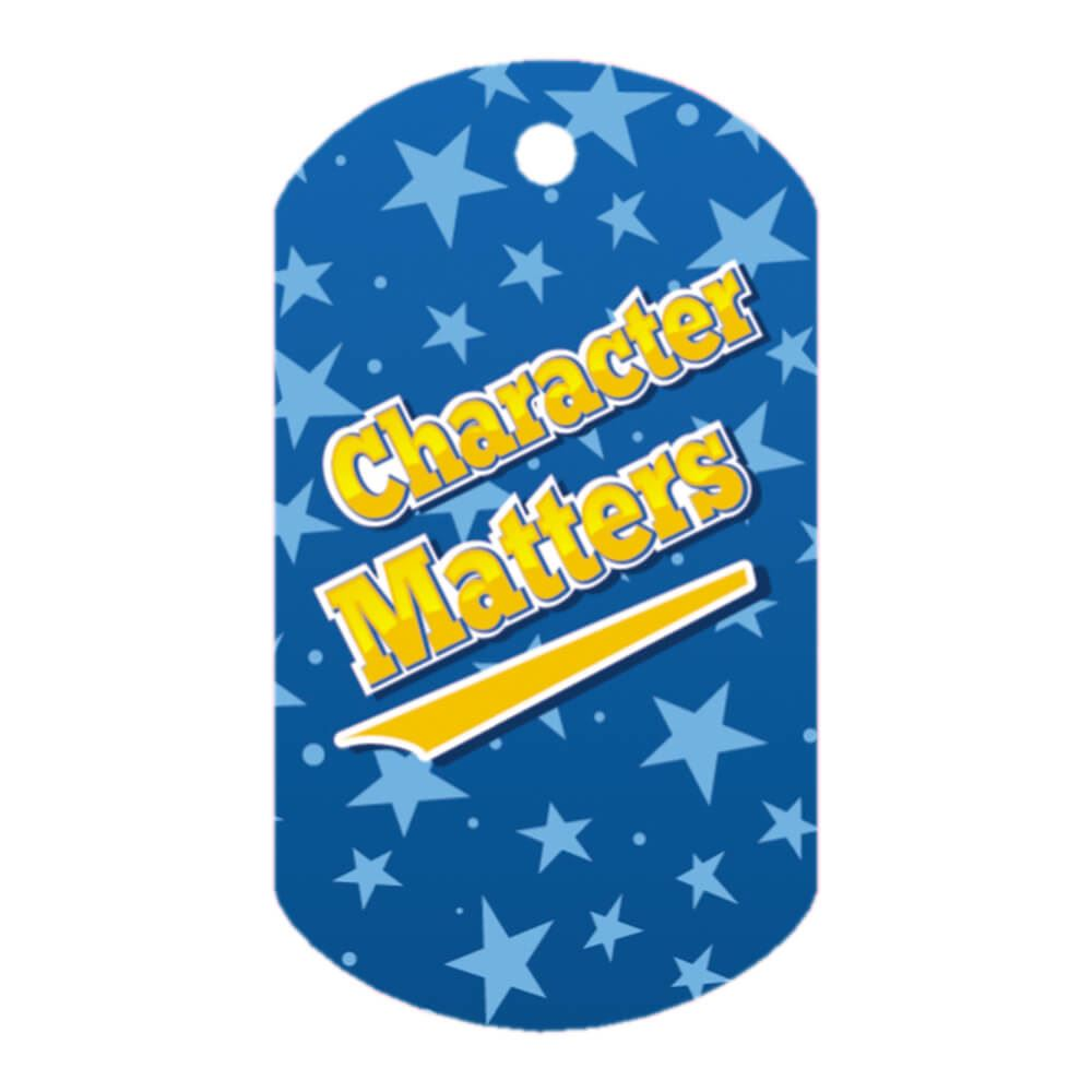 """Character Matters Tags With 24"""" Chains - Pack of 25"""