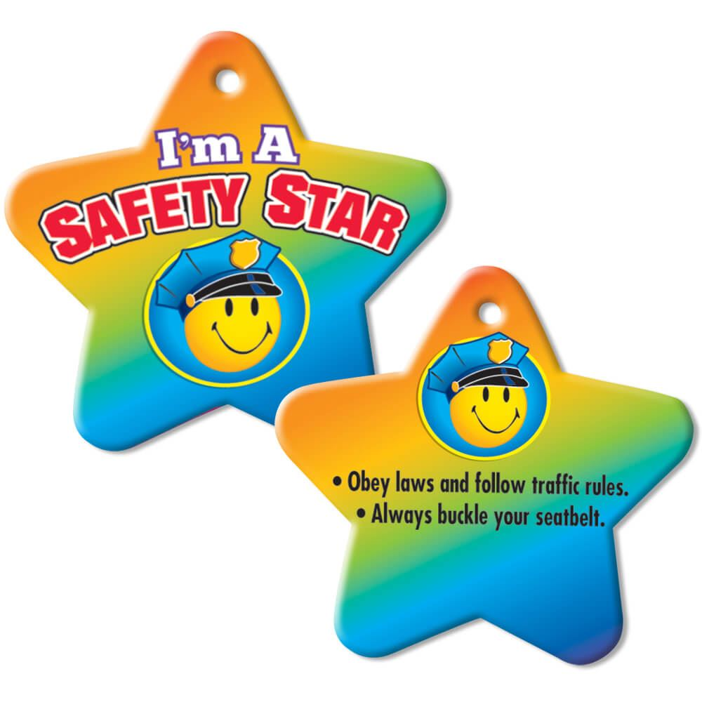 I'm A Safety Star Star-Shaped Laminated Tag with 4