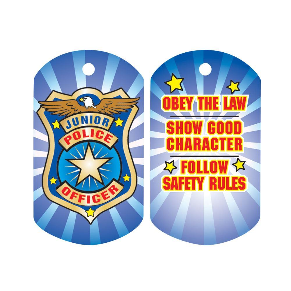 Junior Police Officer Laminated Tag with 4