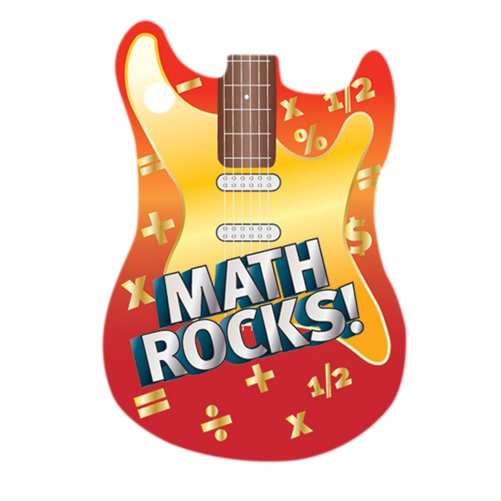 Math Rocks! Laminated Tag With 24