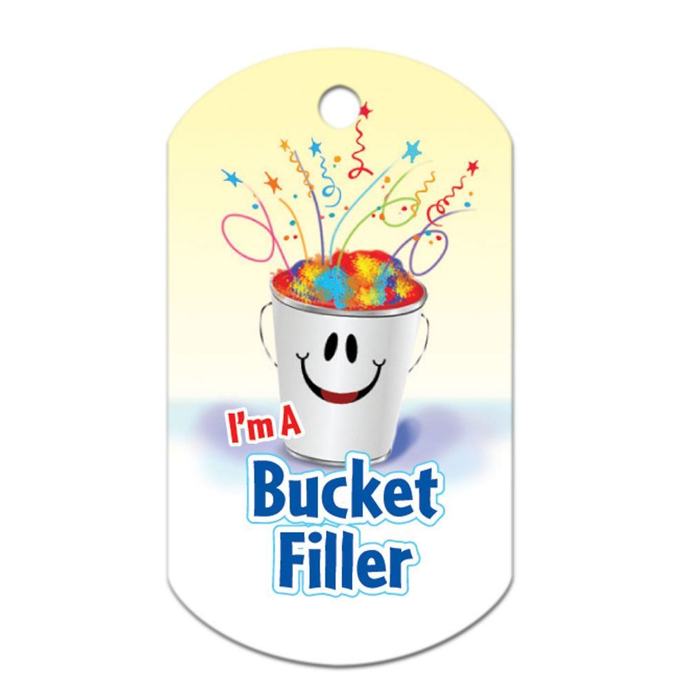"I'm A Bucket Filler Laminated Tags With 4"" Chains"