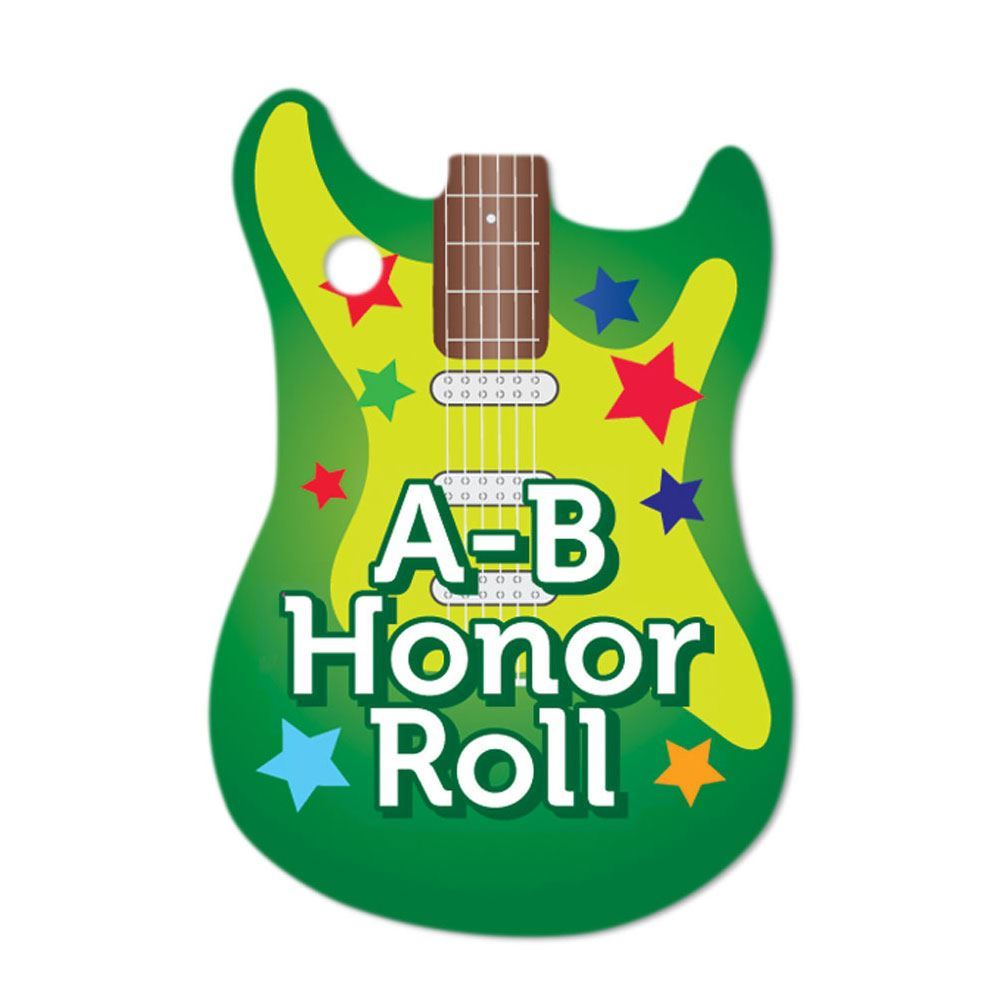 """A-B Honor Roll Guitar Award Tags With 24"""" Chains - Pack of 25"""