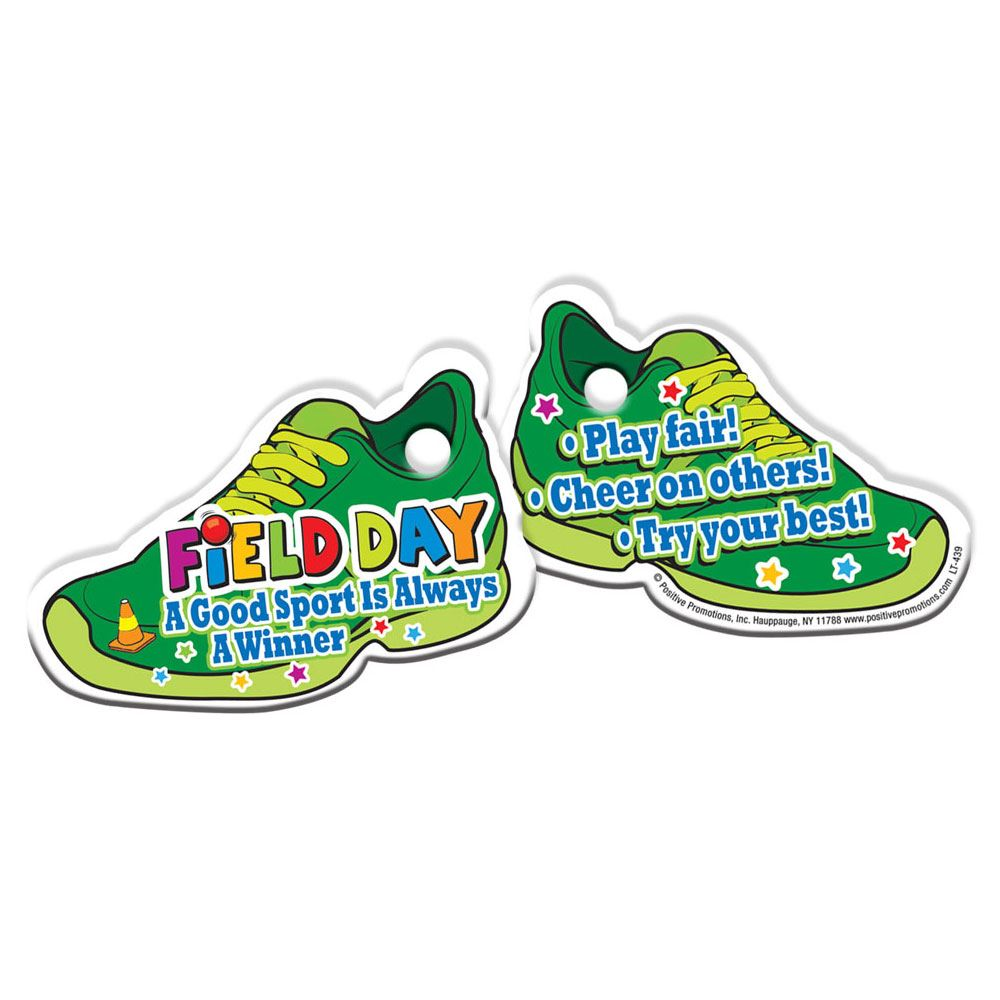Field Day: A Good Sport Is Always A Winner Sneaker-Shaped Tags With 4