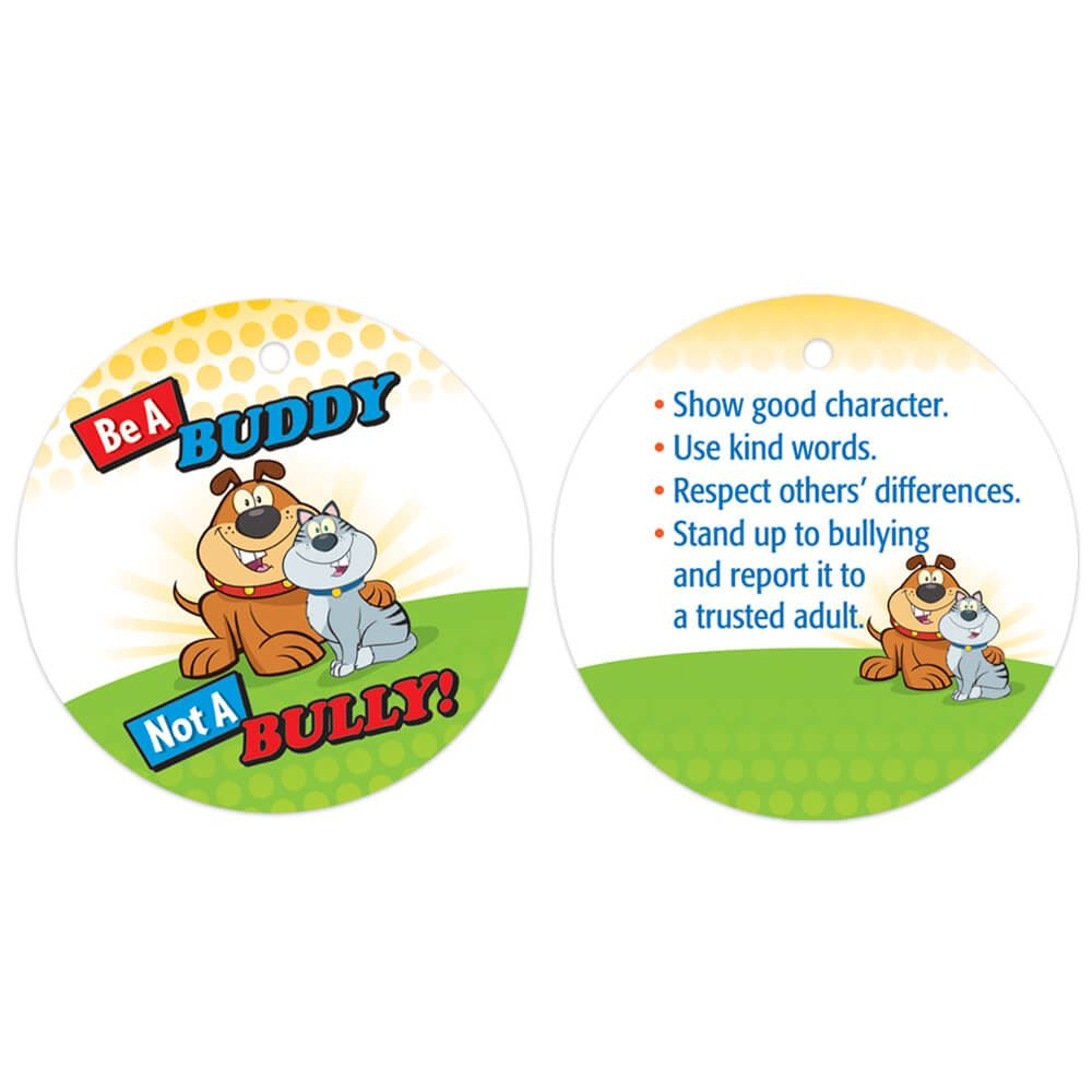 Be A Buddy Not A Bully! Laminated Award Tag With 24