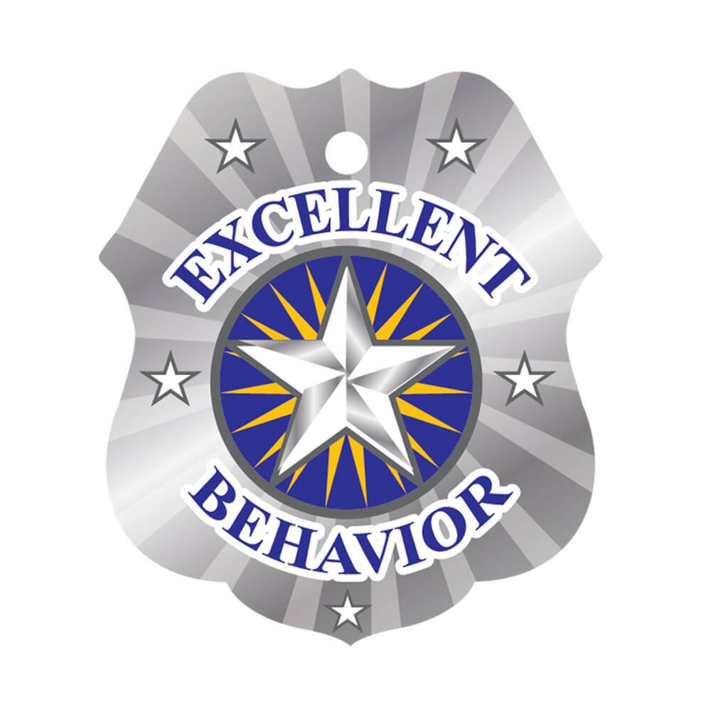 Excellent Behavior Laminated Award Tag With 4
