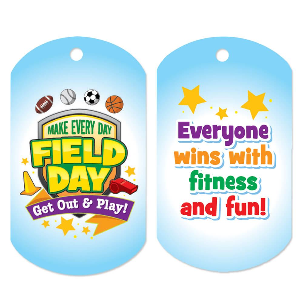 Make Every Day Field Day: Get Out And Play! Award Tags With 24