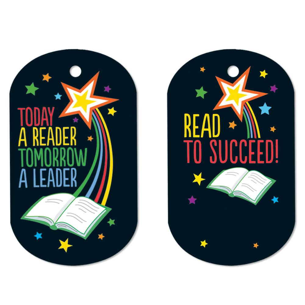 Today A Reader, Tomorrow A Leader Laminated Award Tag With 24