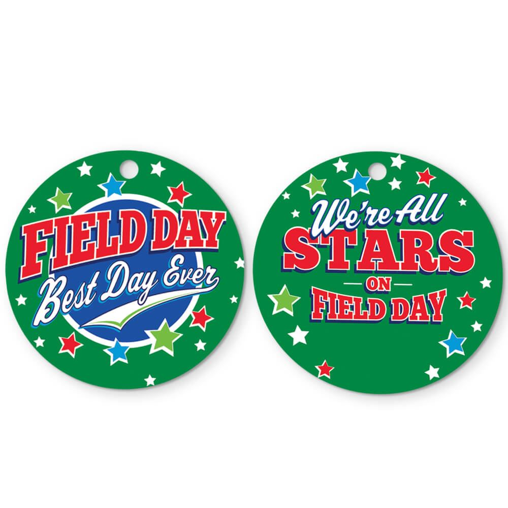 Field Day: Best Day Ever Round Laminated Tags With 24