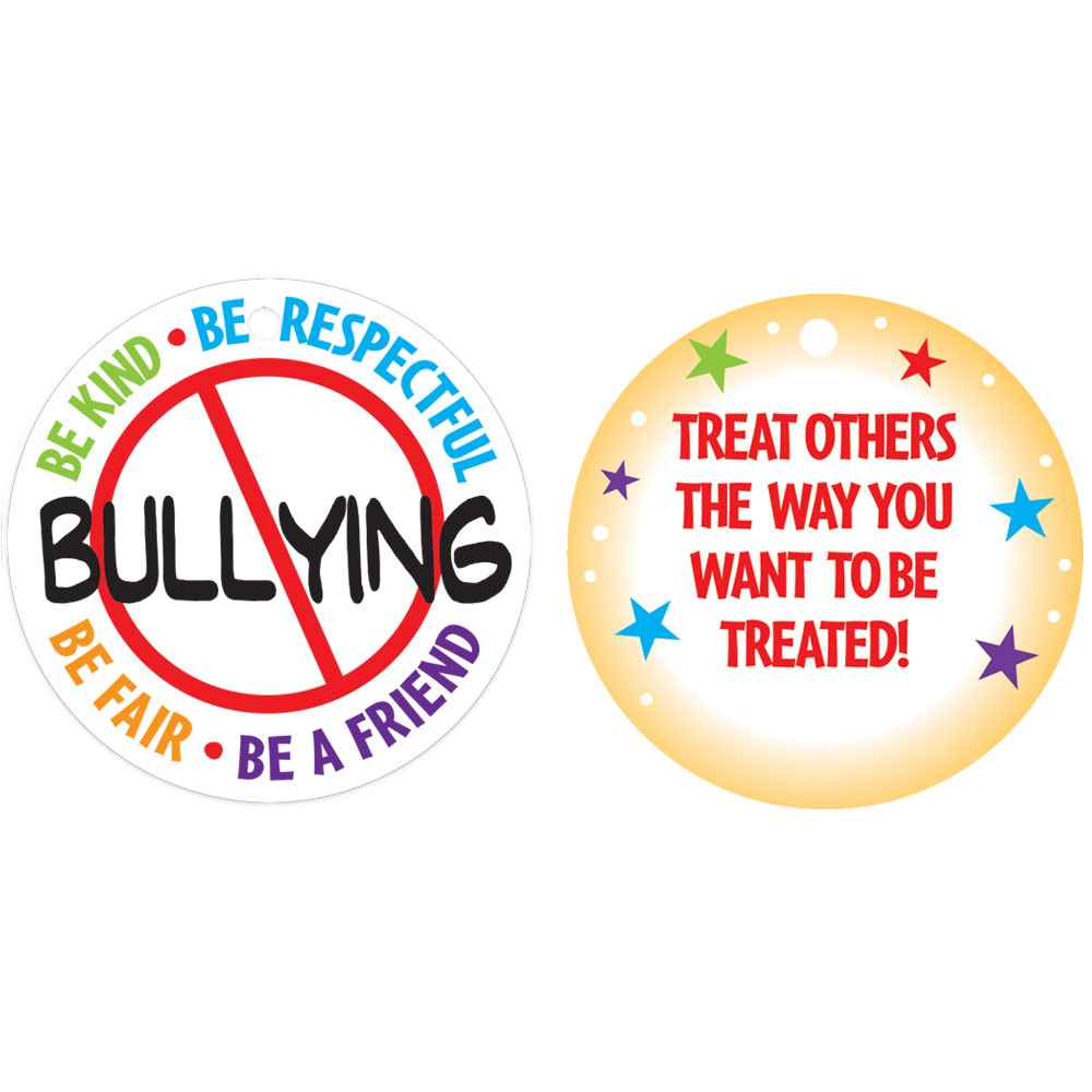 no bullying tag with 4 chain positive promotions