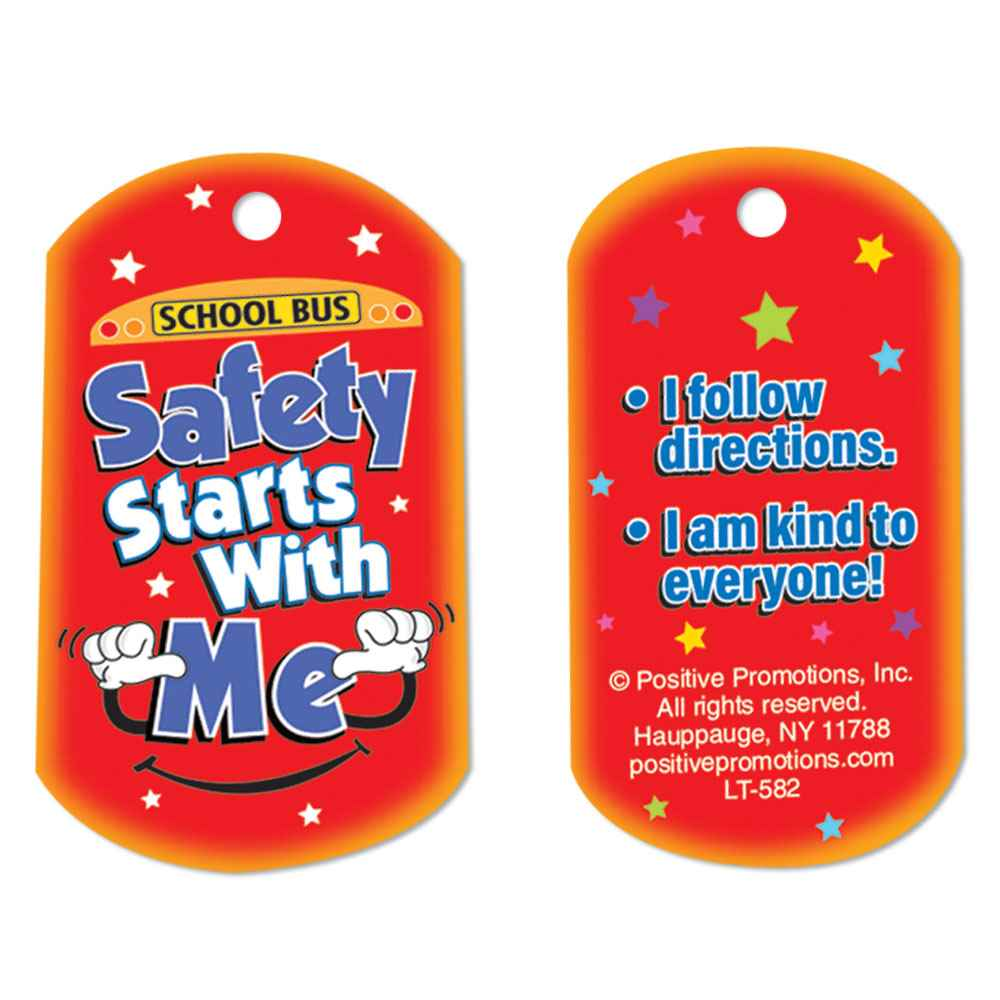 School Bus Safety Starts With Me Laminated Tag With 24