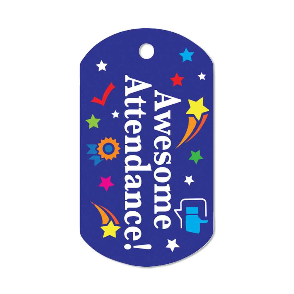 Awesome Attendance Laminated Award Tags With 4