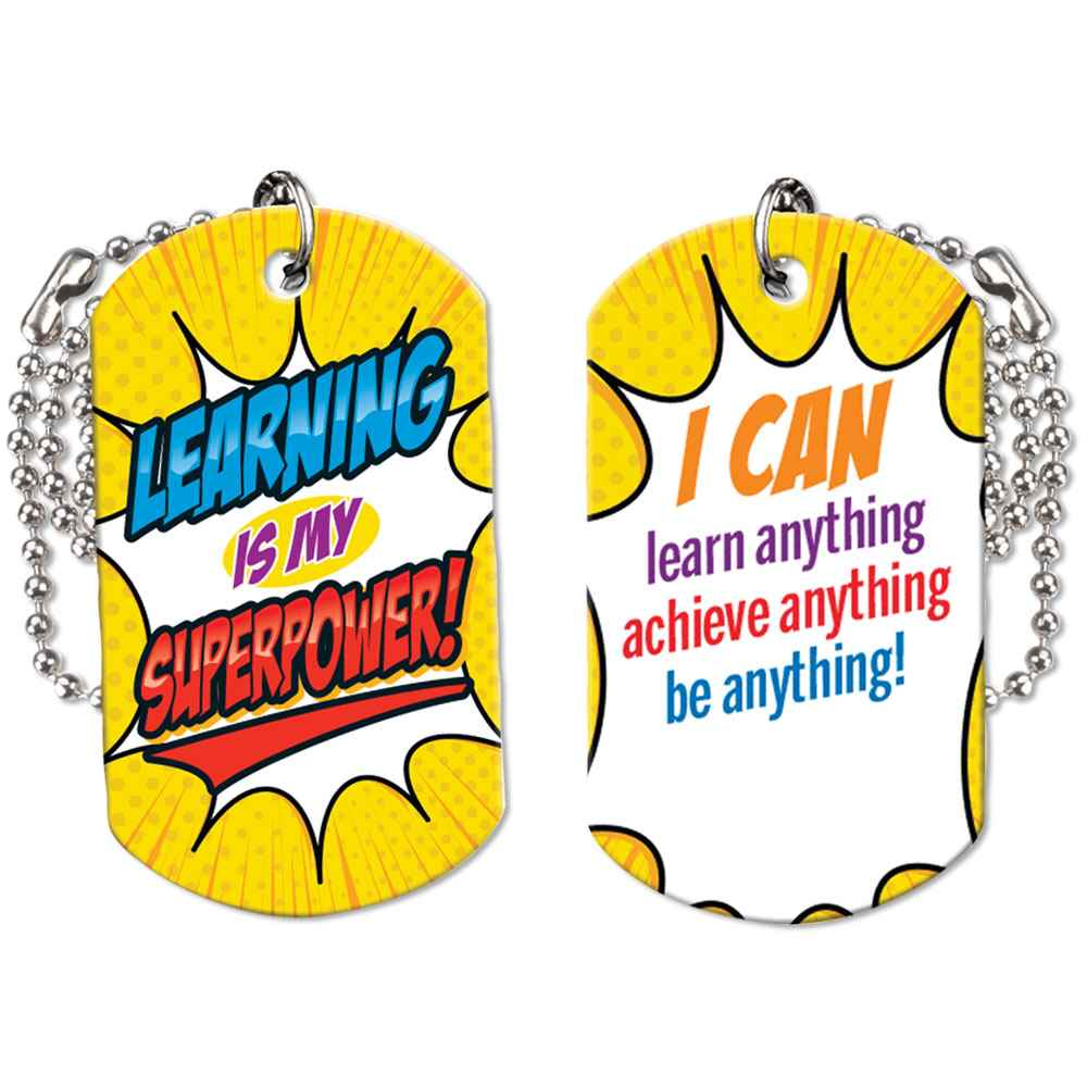 Learning Is My Superpower! Growth Mindset Award Tag With 4