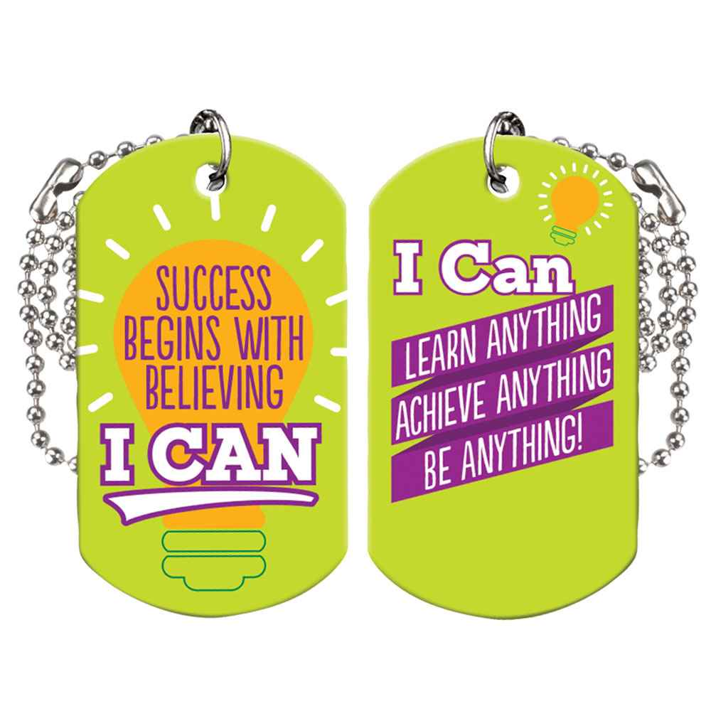 Success Begins With Believing I Can Growth Mindset Award Tags With 4