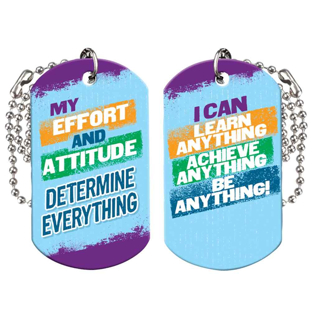 My Effort And Attitude Determine Everything Growth Mindset Award Tags With 4