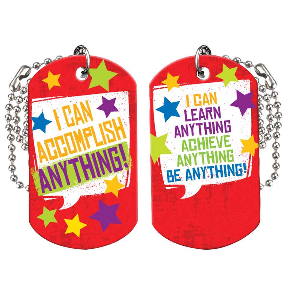 I Can Accomplish Anything! Growth Mindset Award Tag With 4