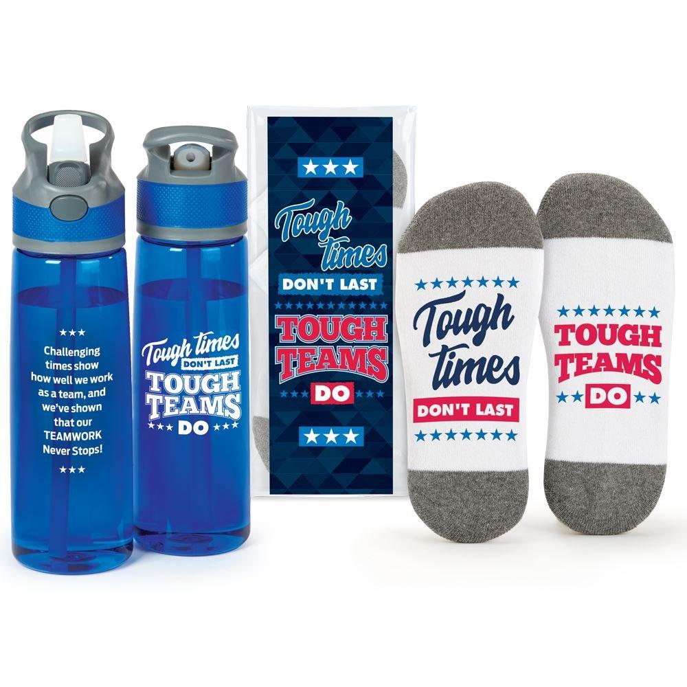Tough Team Water Bottle & Ankle Socks Gift Set