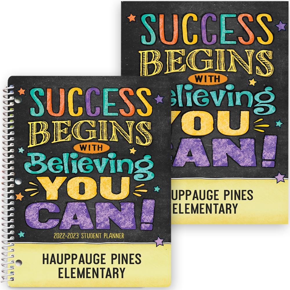 Success Begins With Believing You Can! Planner/Folder Combo - Personalization Available