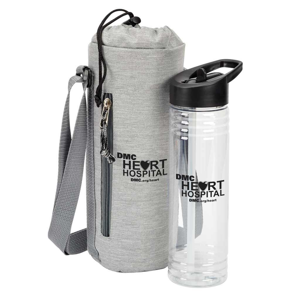 Solara Water Bottle & Insulated Bottle Cooler Sling Gift Set