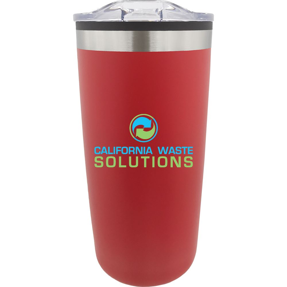 Double Wall Stainless Steel Tumbler - 20 Oz. - Full Color