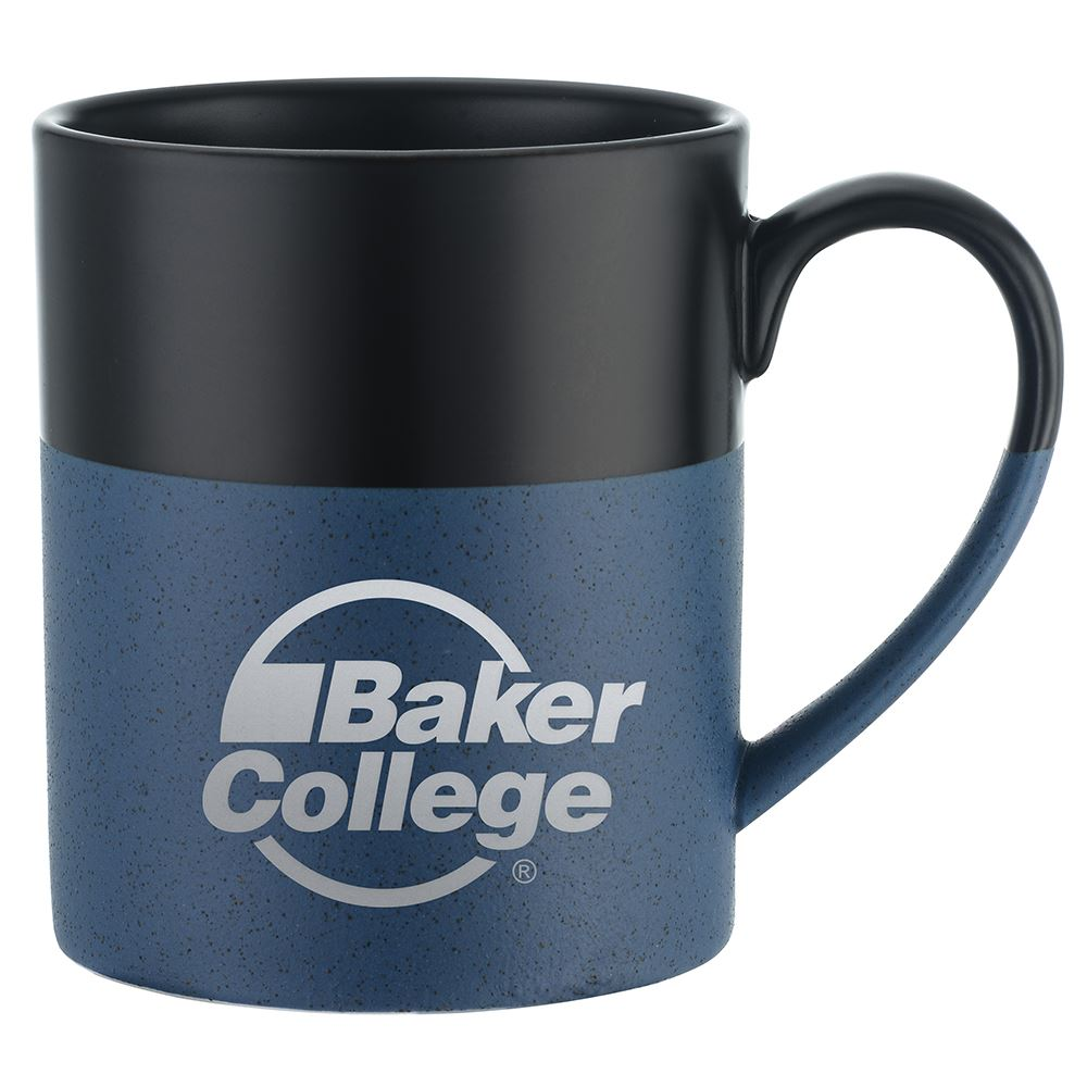 Two-Tone Ceramic Mug with Speckled Bottom - 15 Oz.-Laser Engraved Personalization Available