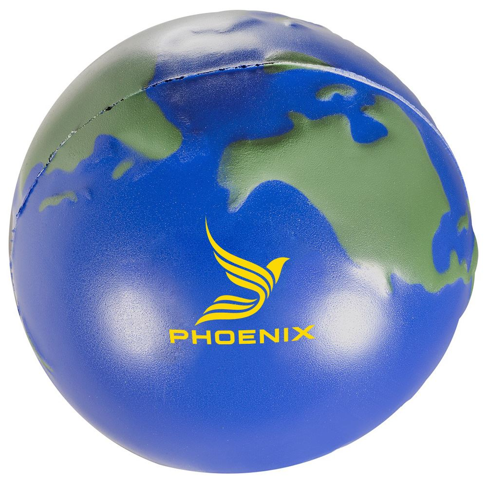 World Polyfoam Stress Ball - Personalization Available