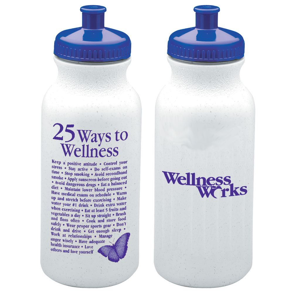 25 Ways To Wellness Water Bottle 20-oz.  - Personalization Available