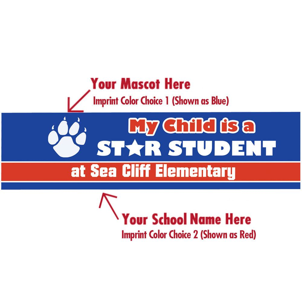 My Child Is A Star Student Bumper Sticker - Personalization Available