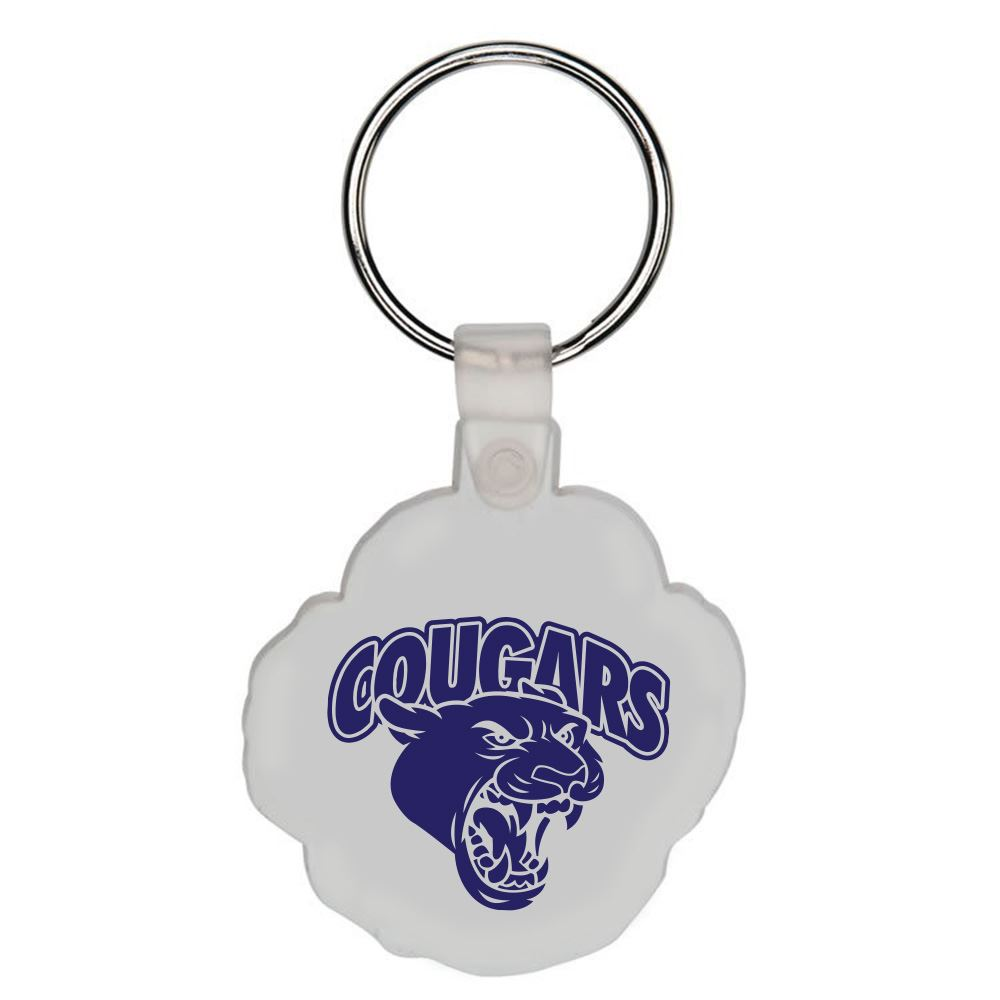 Paw Plastic Key Tag - Personalization Available